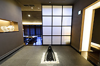 Hoshinoya Karuizawa luxury resort at the foot of Mt. Asam. Spa.