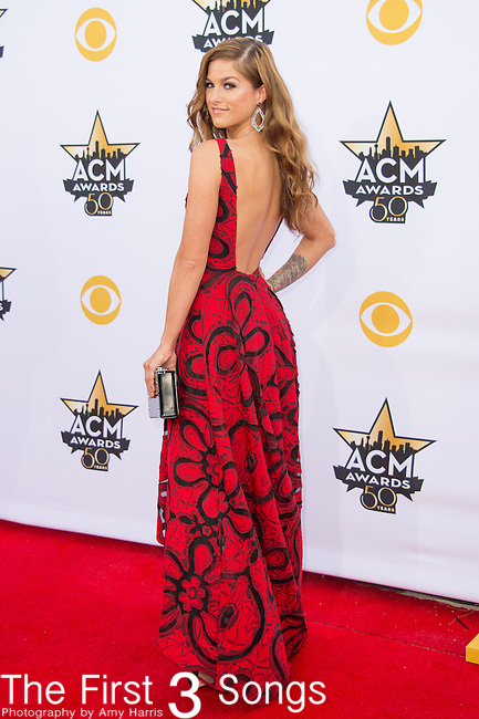 Cassadee Pope attends the 50th Academy Of Country Music Awards at AT&T Stadium on April 19, 2015 in Arlington, Texas.