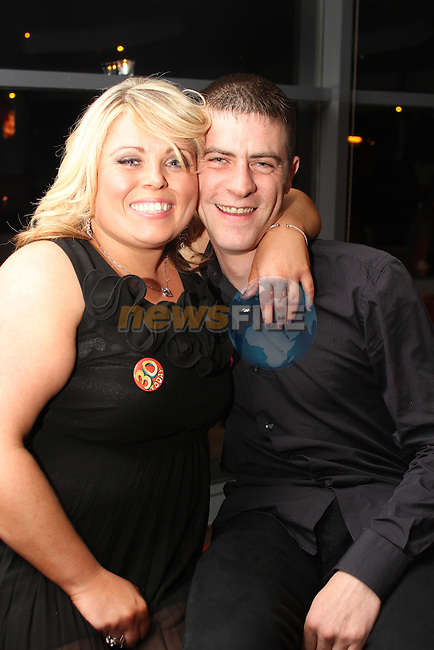 Sonya Clarke with her boyfriend Colin Reynolds at her birthday in Bru...Picture Jenny Matthews/Newsfile.ie