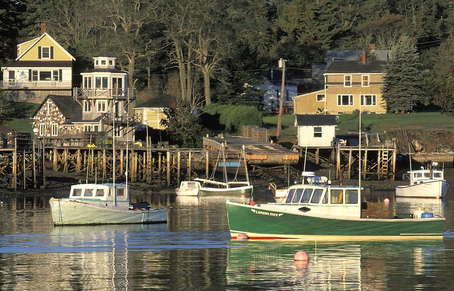 Fishing boats in harbor, Bass Harbor, Maine