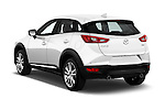 Car pictures of rear three quarter view of 2017 Mazda CX-3 Grand-Touring 5 Door SUV Angular Rear
