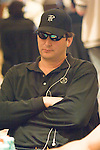 Phil Hellmuth was not a happy man on day 4 of the WPT Championship.  He is seen agonizing over a hand vs. Kirk Morrison.  He folded.