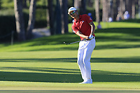 Haotong Li (CHN) chips onto the 17th green during Thursday's Round 1 of the 2018 Turkish Airlines Open hosted by Regnum Carya Golf &amp; Spa Resort, Antalya, Turkey. 1st November 2018.<br /> Picture: Eoin Clarke | Golffile<br /> <br /> <br /> All photos usage must carry mandatory copyright credit (&copy; Golffile | Eoin Clarke)