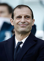 Calcio, Serie A: Juventus - Sassuolo, Torino, Allianz Stadium, 4 Febbraio 2018. <br /> Juventus' coach Massimiliano Allegri smiles before the Italian Serie A football match between Juventus and Sassuolo at Torino's Allianz stadium, February 4, 2018.<br /> UPDATE IMAGES PRESS/Isabella Bonotto