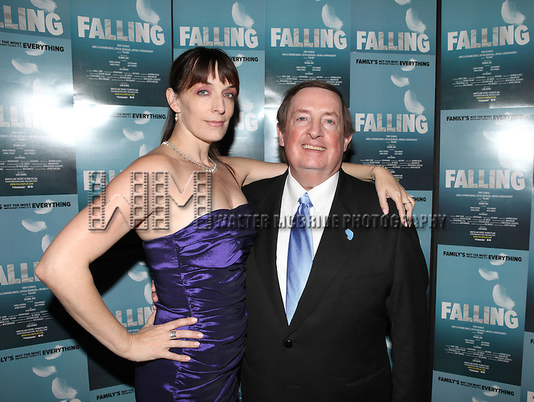 Julia Murney and Producer Terry Schnuck attending the Off-Broadway Opening Night Performance After Party for 'Falling' at Knickerbocker Bar & Grill on October 15, 2012 in New York City.