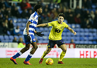 Blackburn Rovers' Lewis Travis competing with Reading's Ovie Ejaria  <br /> <br /> Photographer Andrew Kearns/CameraSport<br /> <br /> The EFL Sky Bet Championship - Reading v Blackburn Rovers - Wednesday 13th February 2019 - Madejski Stadium - Reading<br /> <br /> World Copyright © 2019 CameraSport. All rights reserved. 43 Linden Ave. Countesthorpe. Leicester. England. LE8 5PG - Tel: +44 (0) 116 277 4147 - admin@camerasport.com - www.camerasport.com