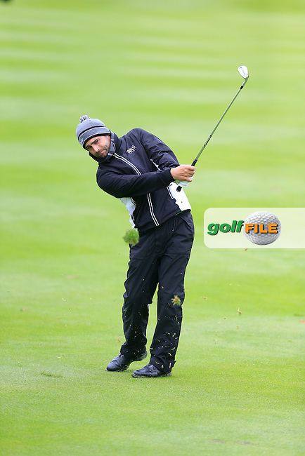 Lee Slattery (ENG) plays his 2nd shot on the 17th hole during Thursday's Round 1 of the 2016 Dubai Duty Free Irish Open hosted by Rory Foundation held at the K Club, Straffan, Co.Kildare, Ireland. 19th May 2016.<br /> Picture: Eoin Clarke | Golffile<br /> <br /> <br /> All photos usage must carry mandatory copyright credit (&copy; Golffile | Eoin Clarke)