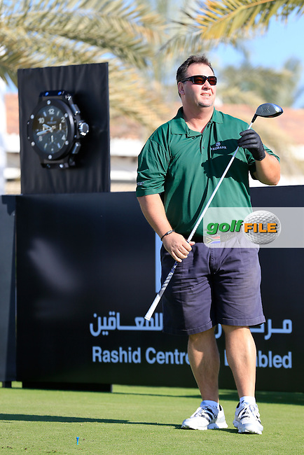 Tinus Hendrikse on the 10th tee to start his match during the 2015 Abu Dhabi Invitational Am-Am event held at Yas Links Golf Course, Abu Dhabi.: Picture Eoin Clarke, www.golffile.ie: 1/26/2015