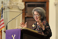 NWA Democrat-Gazette/BEN GOFF @NWABENGOFF<br /> The Rev. Sandra Wanasek speaks on Sunday March 13, 2016 during the Laughter Sunday service at First United Methodist Church in Rogers.