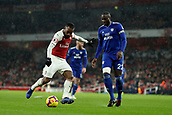 29th January 2019, Emirates Stadium, London, England; EPL Premier League Football, Arsenal versus Cardiff City; Alexandre Lacazette of Arsenal prepares to cross the ball past Souleymane Bamba of Cardiff City