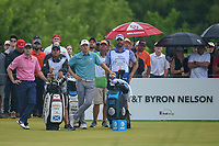 Jordan Spieth (USA) looks over his tee shot on 1 during round 4 of the AT&T Byron Nelson, Trinity Forest Golf Club, at Dallas, Texas, USA. 5/20/2018.<br /> Picture: Golffile | Ken Murray<br /> <br /> All photo usage must carry mandatory copyright credit (© Golffile | Ken Murray)