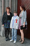Dylan Mallon with his mam, Bronagh and sister Hannah at the Confirmation in St.Mary's Church...Photo NEWSFILE/Jenny Matthews.(Photo credit should read Jenny Matthews/NEWSFILE)....This Picture has been sent you under the condtions enclosed by:.Newsfile Ltd..The Studio,.Millmount Abbey,.Drogheda,.Co Meath..Ireland..Tel: +353(0)41-9871240.Fax: +353(0)41-9871260.GSM: +353(0)86-2500958.email: pictures@newsfile.ie.www.newsfile.ie.FTP: 193.120.102.198.