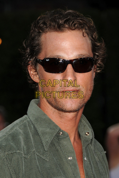 "MATTHEW McCONAUGHEY.""Tropic Thunder"" Los Angeles Premiere at Mann's Village Theatre, Westwood, California, USA. .August 11th, 2008 .headshot portrait sunglasses shades stubble facial hair .CAP/ADM/BP.©Byron Purvis/AdMedia/Capital Pictures."