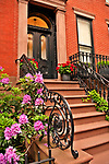 Brooklyn Heights brownstone rowhouses, most of these houses were built before the Civil War