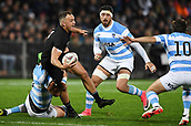 9th September 2017, Yarrow Stadium, New Plymouth. New Zealand; Supersport Rugby Championship, New Zealand versus Argentina; Israel Dagg looks to pass
