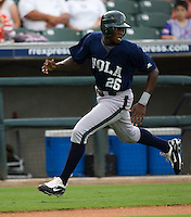 Maybin, Cameron 3210.jpg.  PCL baseball featuring the New Orleans Zephyrs at Round Rock Express  at Dell Diamond on June 19th 2009 in Round Rock, Texas. Photo by Andrew Woolley.