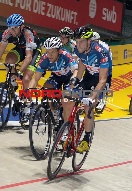 13.01.2015, &Ouml;VB Arena, Bremen, GER, Sixdays Bremen, im Bild Andreas Graf / Andreas M&uuml;ller (Team Bike It #8)<br /> <br /> Foto &copy; nordphoto / Frisch