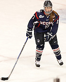 Caitlin Hewes (UConn - 17) - The Boston College Eagles defeated the visiting UConn Huskies 4-0 on Friday, October 30, 2015, at Kelley Rink in Conte Forum in Chestnut Hill, Massachusetts.