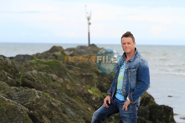 Brian McLaren at the south trailing wall at the mouth of the river boyne.Picture: Fran Caffrey/ www.newsfile.ie.