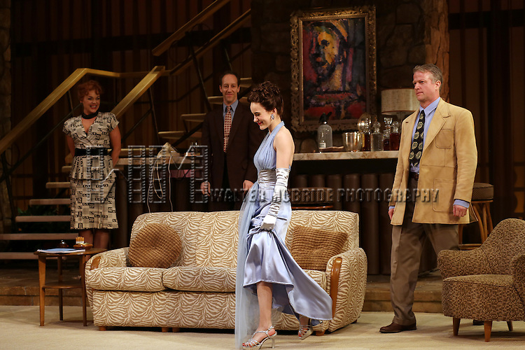 Ana Reeder, Joey Slotick, Rachel Brosnahan & CJ Wilson during the Curtain Call for the Roundabout Theatre Company's Broadway Production of 'The Big Knife' at the American Airlines Theatre in New York City on 4/16/2013...