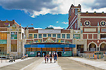 Facade of Convention Hall and Paramount Theatre along the new boardwalk in Asbury Park, New Jersey