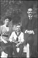 BNPS.co.uk (01202 558833)Pic: MarkAndersen/BNPS<br /> <br /> King Haakon VII, Queen Maud and Crown Prince Olav of Norway.<br /> <br /> A Russian Grand Duke branded King George V a 'scoundrel' who 'did not lift a finger' to save the Romanov family in the revolution there of 1917, explosive diaries have revealed.<br /> <br /> The cousin of the overthrown Russian Royal family blamed the British King for their executions because he failed to grant them refuge.<br />  <br /> Dmitri Pavlovich no-holds-barred diary extracts have been published for the first time in a new book by respected historian Coryne Hall, To Free The Romanovs.