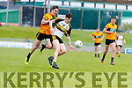 Ronan Shanahan Austin Stacks in action against Tony Brosnan Dr Crokes in the Kerry Club Championship Final on Sunday.