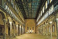 Ravenna:Basilica of Nuovo Sant'Apollinare, interior.