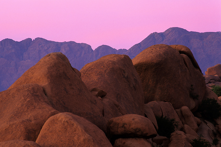 Evening glow on Djebel Kest, Anti-Atlas, Morocco, 2002