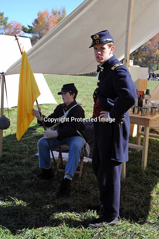 Civil War Reenactment Union Army Camp Soldiers by Field Hospital