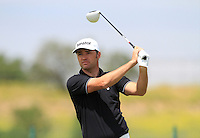 Paul Dwyer (ENG) on the 1st tee during Round 1 of the Challenge de Madrid, a Challenge  Tour event in El Encin Golf Club, Madrid on Wednesday 22nd April 2015.<br /> Picture:  Thos Caffrey / www.golffile.ie