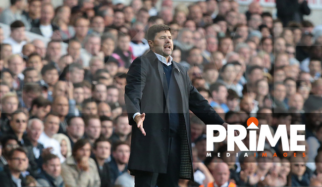 Tottenham Hotspur manager Mauricio Pochettino <br /> during the Premier League match between Tottenham Hotspur and Manchester City at White Hart Lane, London, England on 2 October 2016. Photo by Kieran  Galvin / PRiME Media Images.