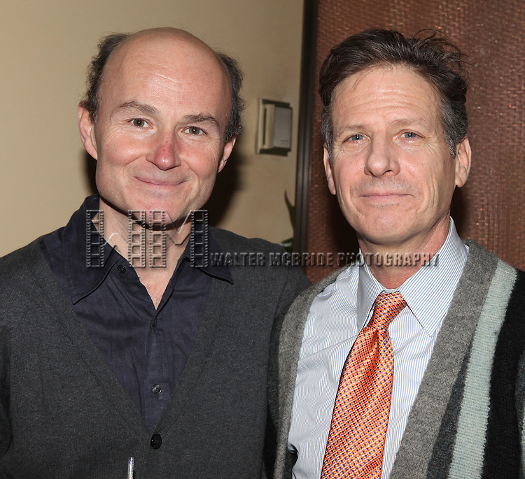 Henry Stram & Martin Moran attending the Off-Broadway Opening Night Party for Martin Moran's 'All The Rage' at the West Bank Cafe  in New York City on 1/30/2013