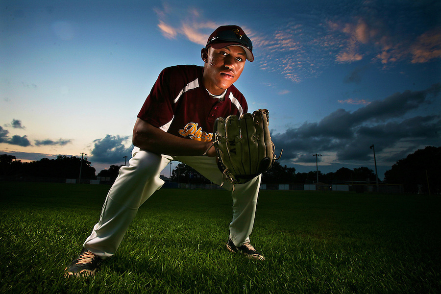 Reggie Williams, Jr., of Brooks-DeBartolo High School in Tampa, Florida. Photo by Brian Blanco for USA Today