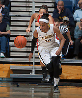 Brittany Boyd of California dribbles the ball during the game against Oregon State at Haas Pavilion in Berkeley, California on January 3rd, 2014.  California defeated Oregon State, 72-63.