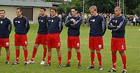 KV Kortrijk eerste training..luisterende spelersgroep..fotos DAVID CATRY/VDB
