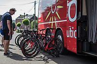 The Cofidis Kuota bikes race ready. <br /> <br /> Baloise Belgium Tour 2018<br /> Stage 4:  Wanze - Wanze 147.3km