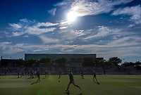 Boyds, MD. - Saturday, June 24 2017:  Washington Spirit warm up before a regular season National Women's Soccer League (NWSL) match between the Washington Spirit and the Portland Thorns FC at Maureen Hendricks Field, Maryland SoccerPlex.<br />  The Washington Spirit defeated the Portland Thorns FC 1-0.