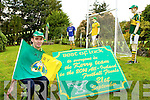Paul Murphy Scartaglen who has decorated his garden as a mini Croke Park to support the Kerry team