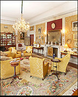 BNPS.co.uk (01202) 558833<br /> Picture: Bonhams<br /> <br /> A lounge<br /> <br /> It is the ultimate garden sale -- The aristocrat Cunliffe-Copeland family are auctioning off millions of pounds of antiques in a unique sale of the entire contents of their stately home Trelissick House near Truro in Cornwall. For generations the family have filled the magnificent The 18th century manor with treasures acquired from travels around the globe.<br /> <br /> 58 years ago the house was left to the National Trust on the condition members of the family could carry on living in the property. But the current incumbent, William Copeland and wife Jennifer, have decided to buy a normal-sized family home and are unable to take the hundreds of heirlooms with them. So they are holding a two-day sale of ancient ornaments, paintings, furniture, jewellery, silverware, books, rugs and wine in the grounds of Trelissick House, near Truro, later this month, and hope to raise &pound;3million