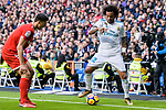 Marcelo da Silva of Real Madrid (R) dribbles Clement Lenglet of Sevilla FC (L) during La Liga 2017-18 match between Real Madrid and Sevilla FC at Santiago Bernabeu Stadium on 09 December 2017 in Madrid, Spain. Photo by Diego Souto / Power Sport Images
