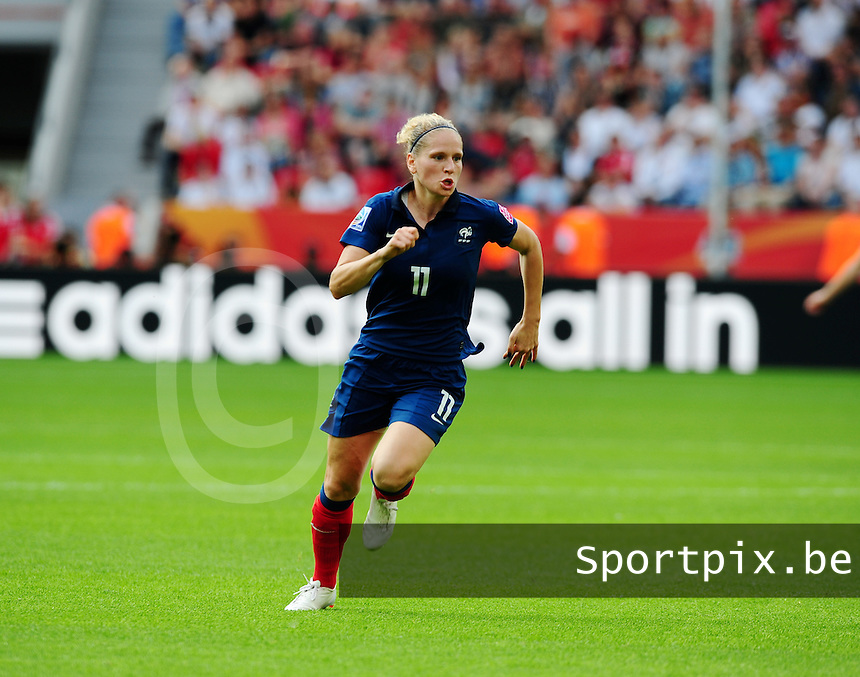 Fifa Women's World Cup Germany 2011 : England - France - at Leverkusen :  Laure Lepailleur.foto DAVID CATRY / Vrouwenteam.be