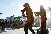 2017 IMSA Continental Tire SportsCar Challenge<br /> Visit Sebring 120<br /> Sebring International Raceway, Sebring, FL USA<br /> Friday 17 March 2017<br /> Continental Tire SportsCar Challenge Podium, Champagne <br /> World Copyright: Jake Galstad/LAT Images