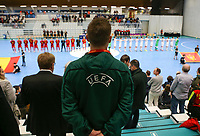 20200201 Herentals , BELGIUM :  Illustrative picture of the the futsal indoor soccer game between the Belgian Futsal Devils of Belgium and Montenegro on the third and last matchday in group B of the UEFA Futsal Euro 2022 Qualifying or preliminary round , Saturday 1st February 2020 at the Sport Vlaanderen sports hall in Herentals , Belgium . PHOTO SPORTPIX.BE | Sevil Oktem