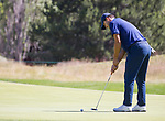 Tony Romo putts on the 4th hole during the ACC Golf Tournament at Edgewood Tahoe Golf Course in South Lake Tahoe on Sunday, July 14, 2019.