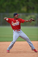 St. Louis Cardinals Leobaldo Pina (33) during a minor league spring training game against the New York Mets on April 1, 2015 at the Roger Dean Complex in Jupiter, Florida.  (Mike Janes/Four Seam Images)