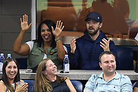 FLUSHING NY- SEPTEMBER 04: ***NO NY DAILIES***  Justin Timberlake reacts during the match on Arthur Ashe Stadium during the US Open at the USTA Billie Jean King National Tennis Center on September 4, 2017 in Flushing Queens. Credit: mpi04/MediaPunch