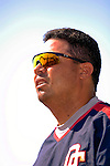 18 March 2006: Jose Vidro, second baseman for the Washington Nationals, prior to a Spring Training game against the New York Mets at Space Coast Stadium, in Viera, Florida. The Nationals defeated the Mets 10-2 in Grapefruit League play...Mandatory Photo Credit: Ed Wolfstein Photo..