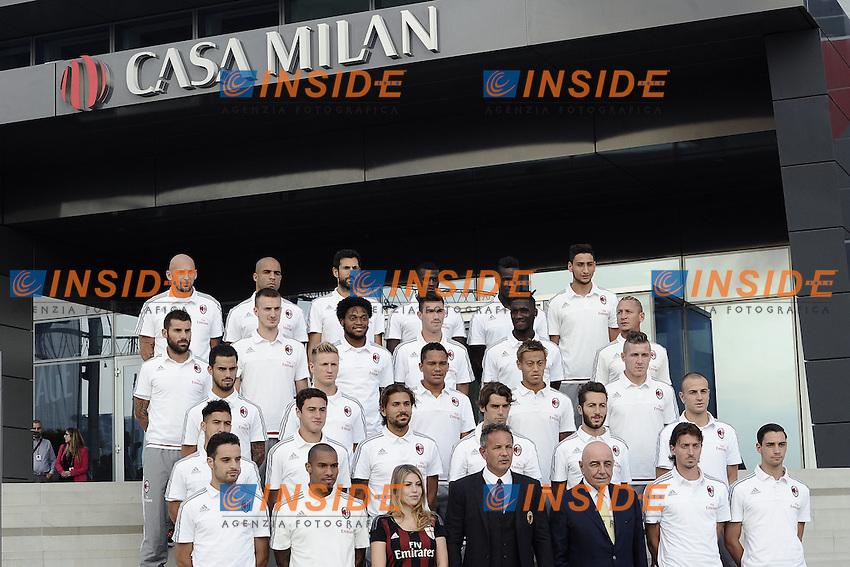 Milan Presentazione Ufficiale della squadra ai tifosi. Official presentation of AC Milan Football Calcio 2015/2015 Milano 10-09-2015 - Milan presentazione ufficiale <br /> della squadra ai tifosi / foto Daniele Buffa/Image Sport<br /> nella foto: Milan