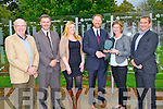At Tralee Rose Garden, Tralee Town, Park Arthur J Spring TD presented Caroline Sugrue of DCS Group,Tralee Base Energy Management with Public Sector Enegry Coy Award 2013 on Monday, L-r: Stephen Barter (Energy Project Manager), Graham Spring, Suzanne Keane (marketing Manager), AJ Spring TD, Caroline Sugrue and Donal Sugrue.
